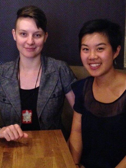2014 winners Loryn Blower and Erica Isomura